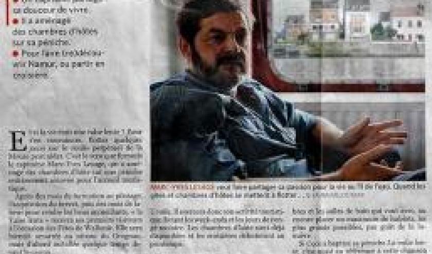 Benjamin Moriame Le Soir dans son edition Namur-Luxembourg du mardi 7 septembre 2010