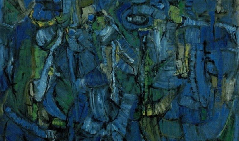 peintre belge Pierre Lahaut . Jolis mois de mai. 1961
