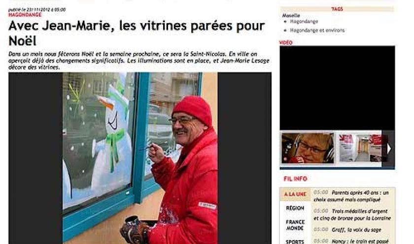 vitrine de noel de Jean-Marie Lesage