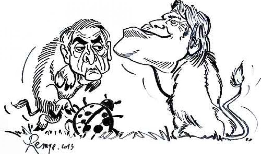 Tapie et Strauss-Kahn : caricature de Jean-Marie Lesage