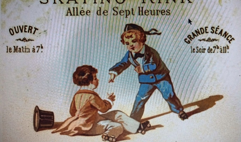 Carte publicitaire « Skating Rink »