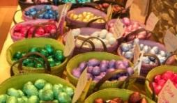 Petits oeufs de Paques en chocolat